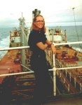 Patricia Danielson - working on a Mobil Oil Tanker in Alaska
