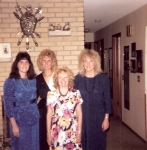 Attending the 15-year class reunion: Jill Dickson, Cindy Mattson, Barb Cooper, Lynn Tidemann