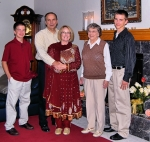 Patricia Danielson - wedding to Tom Bauer - kids and mother inlaw